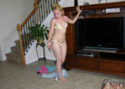 Частное фото блондинки